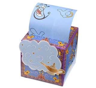 日本 Disney Store 直送阿拉丁 Aladdin 燈神 Genie 盒裝卷式便條紙