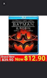 BATMAN & ROBIN Blu-ray Movie Disc (Authentic) UP: $39.90  Special Offer: $12.90 + Free mail postage ( Brand New in box  & Sealed) Last piece left