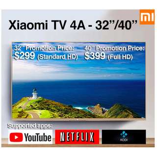 "TV Xiaomi Android TV 4A 32/40"" Build in Mitv Box (Ready Stock)"
