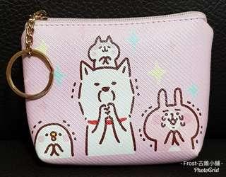全新-粉兔零錢包 可放鈔票,證件,鑰匙