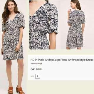 HD Paris Antrhopologie Floral Dress