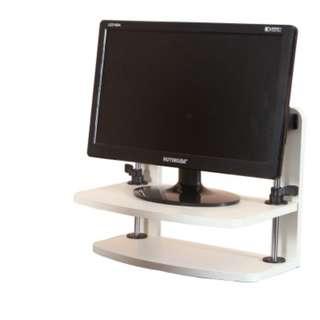 電腦顯示器增高架($218包送貨)最高可至25CM-防頸痛.辦公桌面鍵盤收納雙層底座