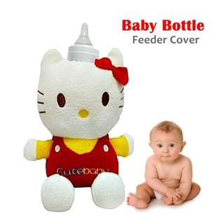 KITTY MILK BOTTLE INSULATED COVER WITH SOUND ( 11-78-01 )