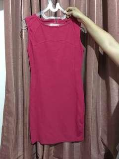 Pull & Bear Mini Pink bodycon dress , tagnya sudah nggak ada