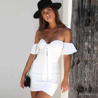 Off Shoulder Strapless Summer Mini Dress