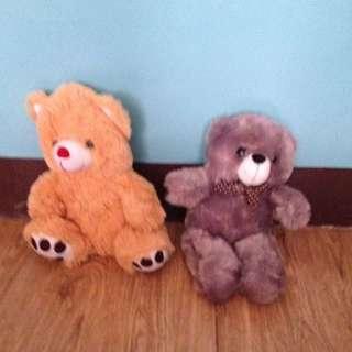 Brown And Purple Teddy Bear