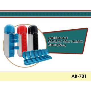 Bottle with pill box