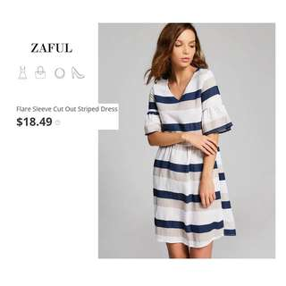 Auth Zaful Striped Dress