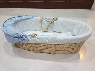 Mothercare Space Dreamer Moses Basket - Blue