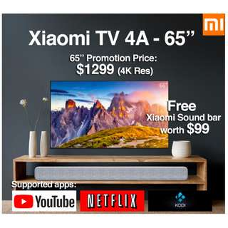"""🚚 TV Xiaomi Android TV 4A 65"""" Build in Mitv Box (Ready Stock)"""