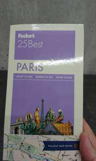 BN Fodor's 25 Best PARIS pocket guide and maps