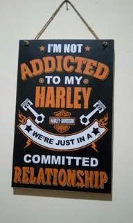 Pajangan dinding Harley Davidson