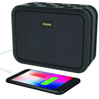 iHome IBN6BEX Rugged Portable Waterproof Bluetooth Stereo Speaker - Black