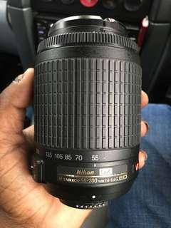 Nikon AF-S 55-200 VR zoom lens