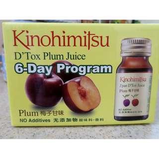Kinohimitsu D'tox Plum Juice 6's