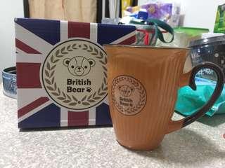 🚚 英國熊條紋杯