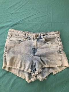 H&M Faded Denim Shorts