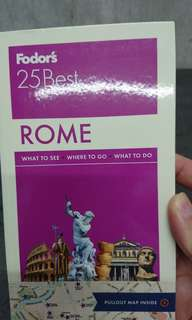 BN Fodor's 25 Best ROME pocket guide and maps
