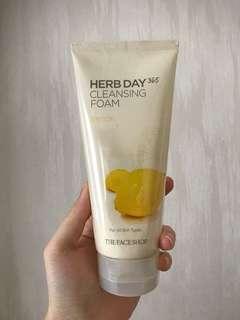 sabun the face shop herb 365 BARU cleansing facial foam