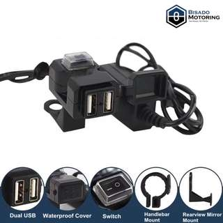 Dual USB Charger Socket with waterproof/dust cover