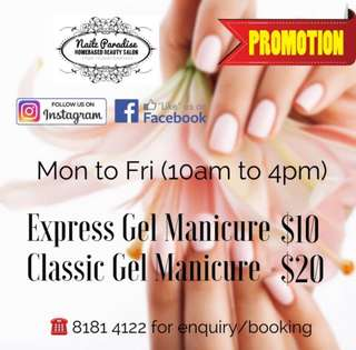 GEL MANICURE PROMO!! HAPPY HOURS