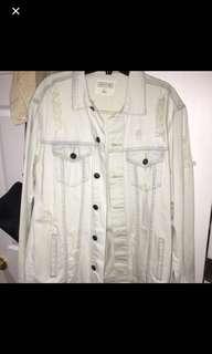Brand new distressed Denim jacket