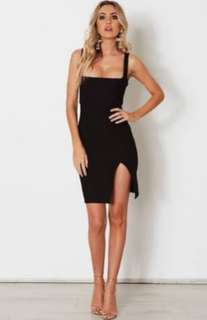 White fox boutique second kiss dress in black
