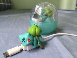 寵物小精靈 奇異種子充電線 pokemon扭蛋
