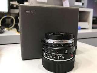 Voigtlander 35mm F1.4 Nokton (Leica M Mount)