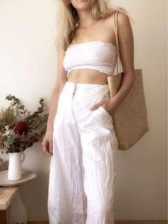 Glassons Linen White Culottes Pants size 6