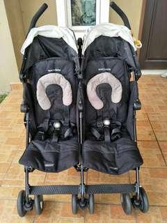 Maclaren Twin Stroller Buggied