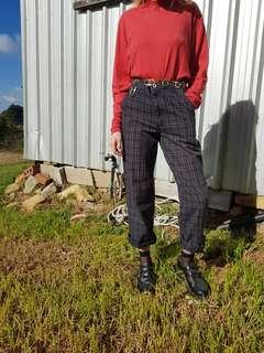 Vintage Plaid Pants!!