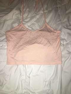 Pink boohoo halter top