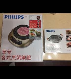 🚚 飛利浦PHILIPS不挑鍋黑晶爐DH4990附送不沾烤盤(全新)