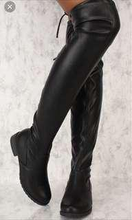 $10 knee high leather boots