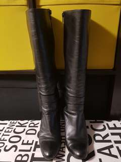 David Lawrence black knee high boots