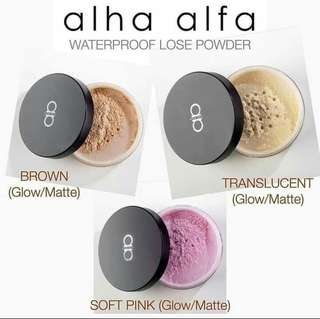 Alha Alfa Super Stay Fixing Powder - Glow/Matte Finishing