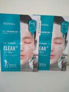 🚚 Mediheal 平價韓國醫美級面膜 兩步驟安瓶組 玻尿酸款