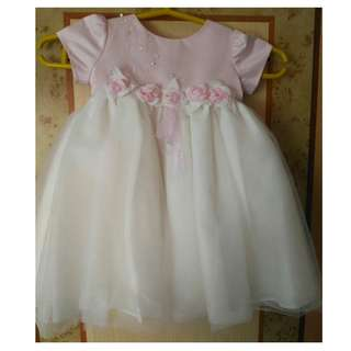 Preloved baby dress crib couture