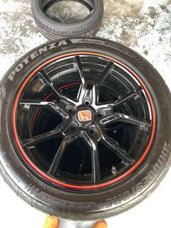 TYPE R RIM AND TYRE