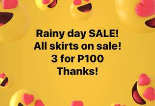 ALL SKIRTS ON SALE!!!