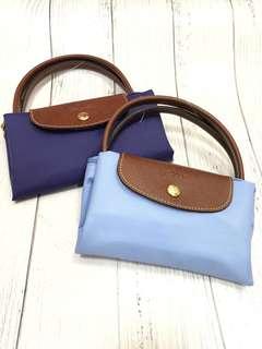 全新  兩色  Longchamp 短手柄 細size shopping bag