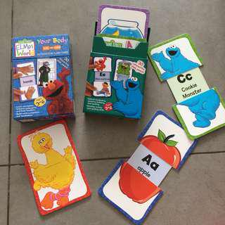 Sesame Street Interactive Flashcards x 2 sets