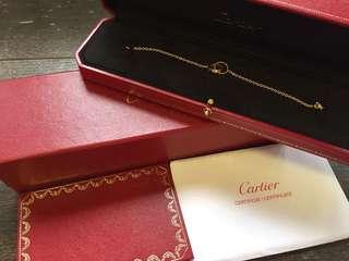 二手正貨 盒連証書 Cartier Love 750 YG bracelet soupie PM