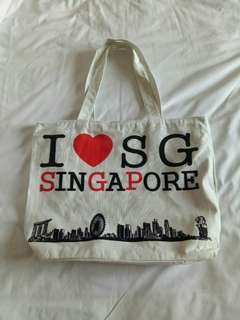 Singapore Tote bag with zipper