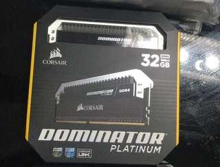 Corsair Dominator Platinum 16GB x 2 3000Mhz * brand new*