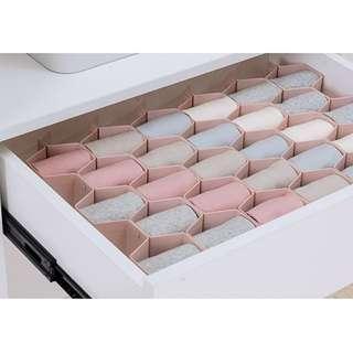 Honeycomb sock drawer plastic organiser/organizer