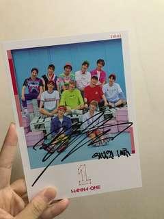 [限量品] WANNA ONE 李大輝 大輝 出道專 Pink Ver. 簽名 親簽 大卡