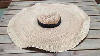 Large beautiful straw hat