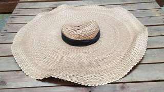 Large beautiful straw hat